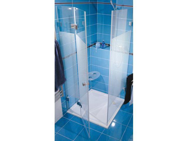 Kabina prysznicowa kwadratowa GLASSLINE MATRIX GSDPS-100/100 L, szkło wzór 0BLAAA00ZM Ravak