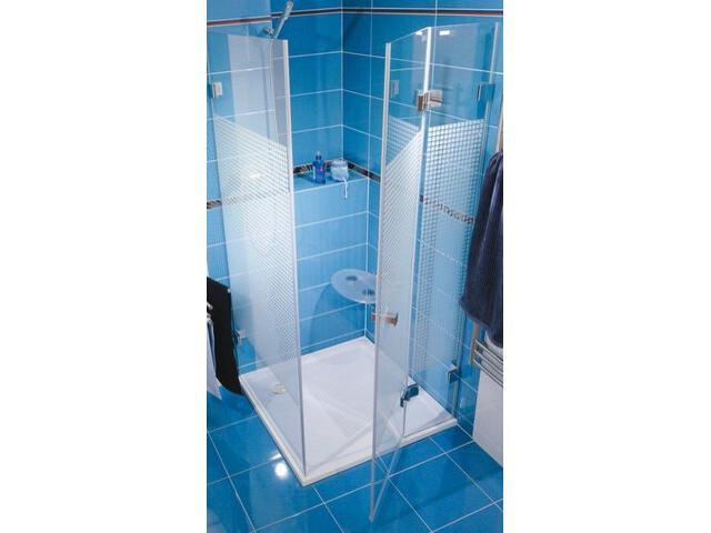 Kabina prysznicowa kwadratowa GLASSLINE MATRIX GSDPS-90/90 P, szkło wzór 0BP77A00ZM Ravak