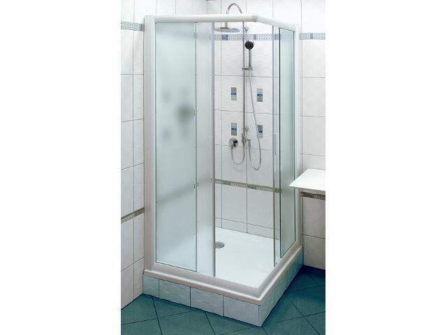 Kabina prysznicowa kwadratowa RAPIER NRKRV2-100 profil biały, szkło grape 1ANA0100ZG Ravak