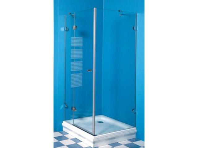 Kabina prysznicowa kwadratowa GLASSLINE GSDPS-80 L, szkło transp. wys. 200cm 0BL40A0KZ1 Ravak