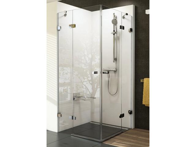Kabina prysznicowa kwadratowa BRILLIANT BSRV4-80, szkło transparentne 1UV44A00Z1 Ravak