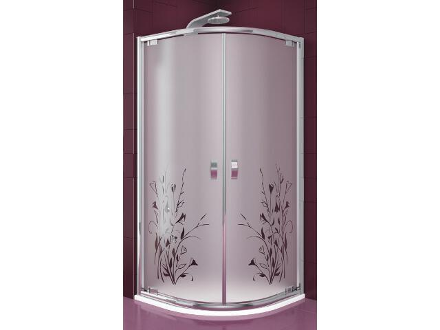 Kabina prysznicowa półokrągła SALGADO 90 szkło wzór kalia 100-06090 Aquaform