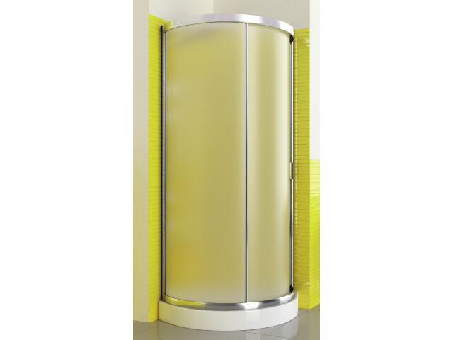 Kabina prysznicowa półokrągła LAZURO 90 wycinek koła szkło satinato 107-06590 Aquaform