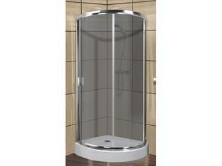 Kabina prysznicowa półokrągła LAZURO 90 wycinek koła szkło grigio 107-06583 Aquaform