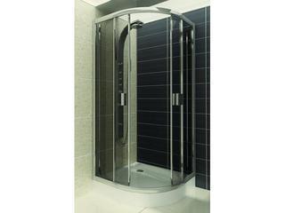 Kabina prysznicowa półokrągła LAZURO 80 szkło grigio 100-06581 Aquaform
