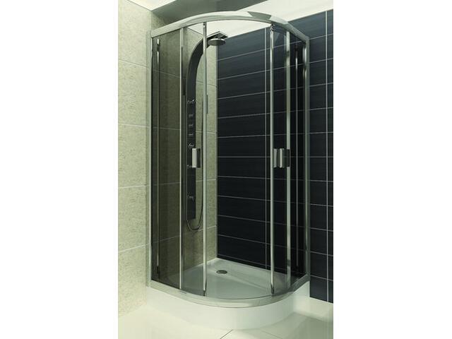 Kabina prysznicowa półokrągła LAZURO 90 szkło grigio 100-06582 Aquaform