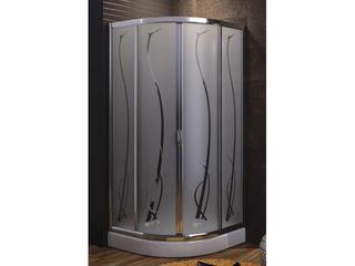 Kabina prysznicowa półokrągła HAVANA 90 profil chrom, szkło wzór grass 100-06123 Aquaform