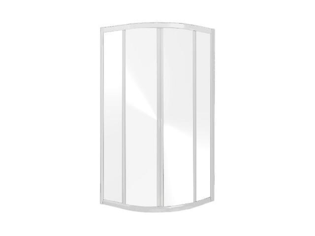 Kabina prysznicowa półokrągła HAVANA 80 profil biały, szkło przejrzyste 100-06124 Aquaform