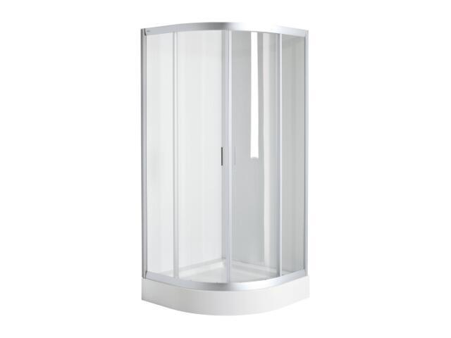 Kabina prysznicowa półokrągła FRESH SOFT 90x90cm szkło hartowane, DKPG90222001 Koło