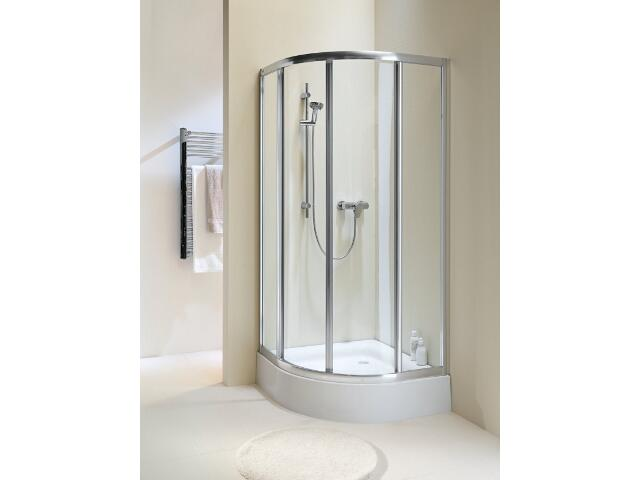 Kabina prysznicowa półokrągła AKORD 80 profil biały, szkło hartowane RKPG80222000 Koło