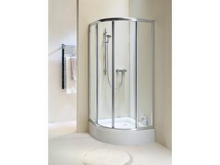 Kabina prysznicowa półokrągła AKORD 90 profil biały, szkło hartowane RKPG90222000 Koło