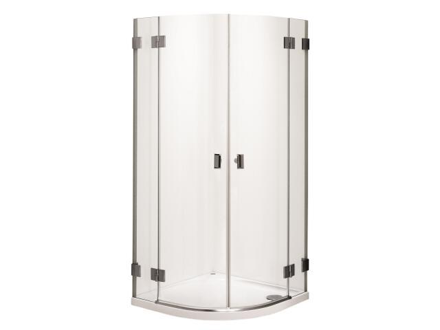 Kabina prysznicowa półokrągła NIVEN 80cm szkło hart. Reflex FKPF80222003 Koło
