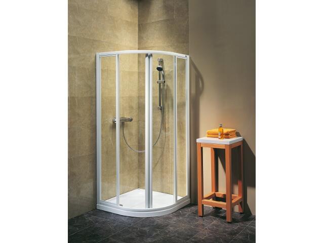 Kabina prysznicowa półokrągła ATOL PLUS 90 profil biały, szkło reflex EKPG90222000 Koło