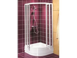 Kabina prysznicowa półokrągła AKORD SWING 90x90cm szkło hartowane Reflex RKPF90R22000 Koło