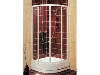Kabina prysznicowa półokrągła AKORD 90x90cm szkło hartowane Reflex RKPG90R22000 Koło
