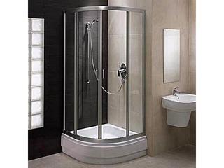 Kabina prysznicowa półokrągła FRESH 80 profil biały, szkło hartowane w paski BKPG80212000 Koło