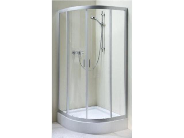 Kabina prysznicowa półokrągła FRESH 80 mat, szkło hartowane w paski BKPG80211001 Koło