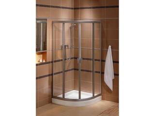 Kabina prysznicowa półokrągła FRESH 80 profil srebrny mat, szkło hartowane BKPG80222001 Koło