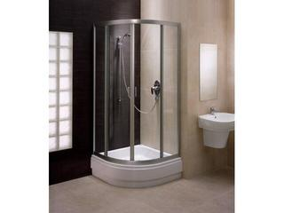Kabina prysznicowa półokrągła FRESH 90 mat, szkło hartowane w paski BKPG90211001 Koło