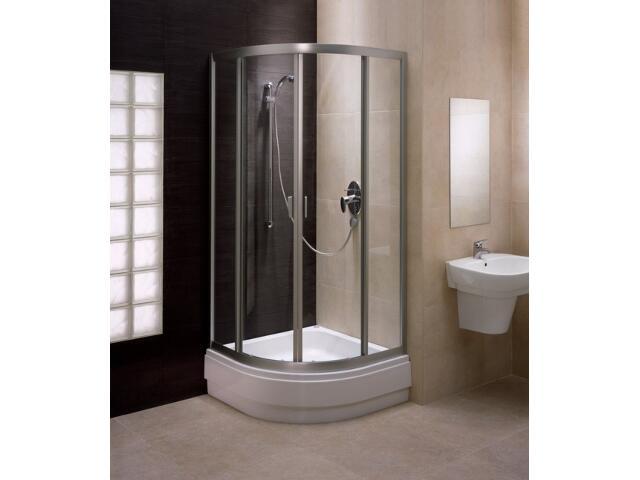 Kabina prysznicowa półokrągła FRESH 90 profil srebrny mat, szkło hartowane BKPG90222001 Koło