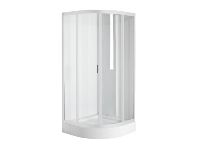 Kabina prysznicowa półokrągła FRESH SOFT 80x80cm szkło hartowane, profil biały DKPG80222000 Koło