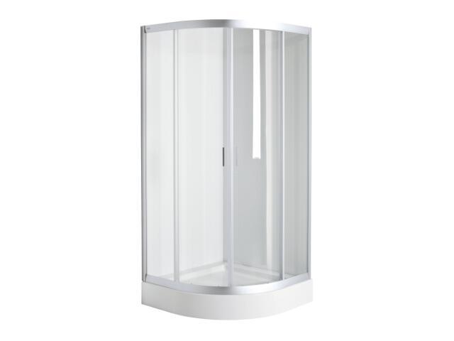 Kabina prysznicowa półokrągła FRESH SOFT 80x80cm szkło hartowane, DKPG80222001 Koło