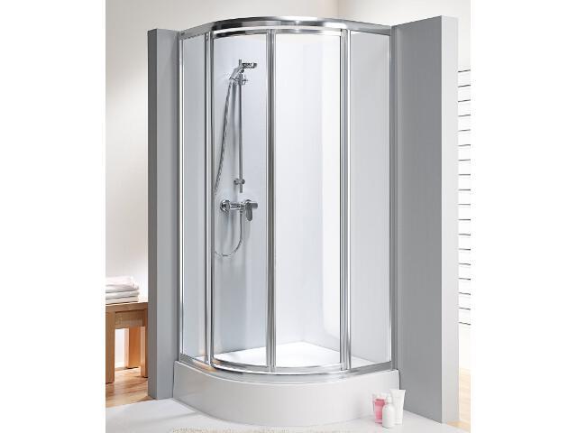 Kabina prysznicowa półokrągła AKORD SWING 90x90cm szkło hartowane, półmat RKPF90222005 Koło