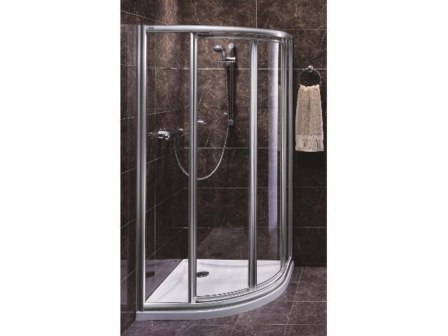 Kabina prysznicowa półokrągła AKORD 80x80cm szkło hartowane, półmat Reflex RKPG80R22005 Koło