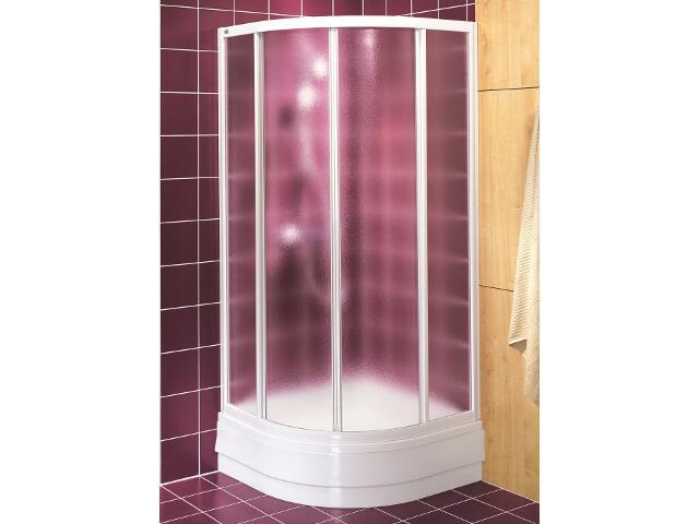 Kabina prysznicowa półokrągła AKORD 90x90cm szkło hartowane ze wzorem CREPI RKPG90202000 Koło