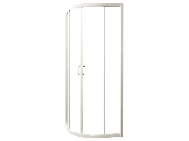 Kabina prysznicowa półokrągła CARMEN NEW 80, profil biały, szkło czyste S136-009