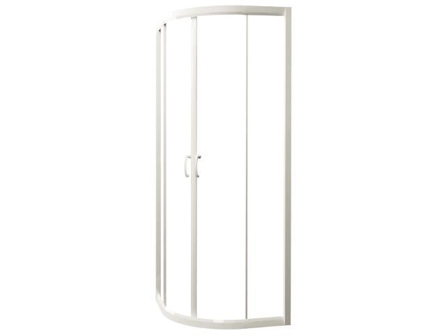 Kabina prysznicowa półokrągła CARMEN NEW 90, profil biały, szkło czyste S136-010