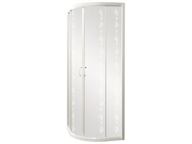 Kabina prysznicowa półokrągła CARMEN NEW 80, profil biały, YUCCA S136-011