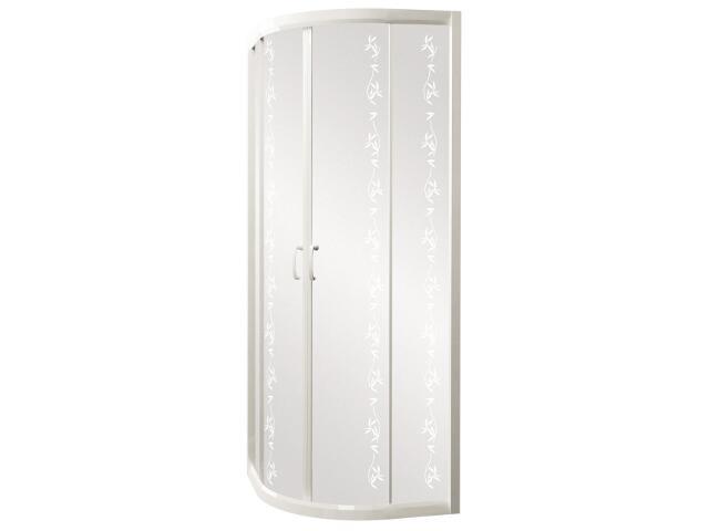 Kabina prysznicowa półokrągła CARMEN NEW 90, profil biały, YUCCA S136-012