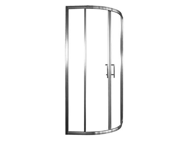 Kabina prysznicowa półokrągła ARENA 90, profil chromowany, szkło czyste S133-007