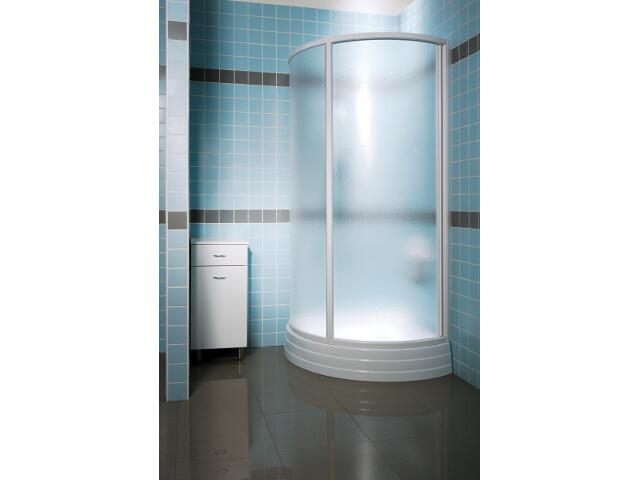 Kabina prysznicowa półokrągła SUPERNOVA SKKP2-90 profil biały, polistyren pearl 30070100L1 Ravak