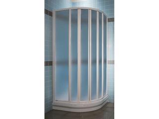 Kabina prysznicowa półokrągła SUPERNOVA SKKP6-90 profil biały, polistyren pearl 3207010011 Ravak
