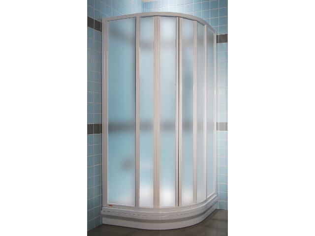 Kabina prysznicowa półokrągła SUPERNOVA SKKP6-90 profil biały, szkło grape 32070100ZG Ravak