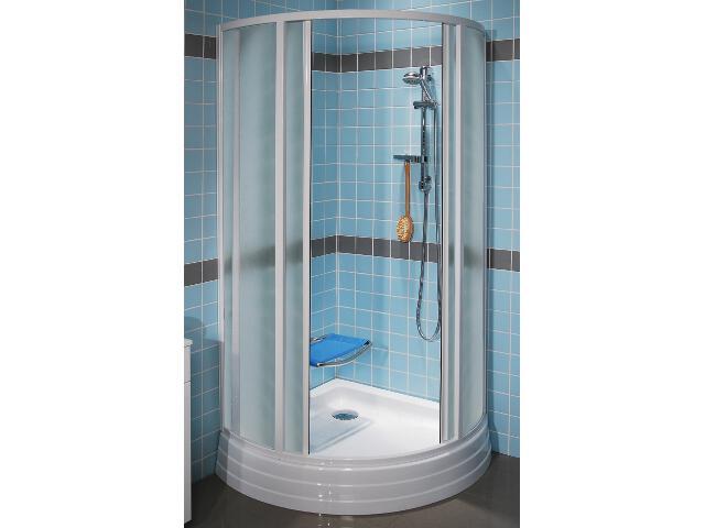 Kabina prysznicowa półokrągła SUPERNOVA SKKP4-90 profil biały, szkło grape 31070100YG Ravak