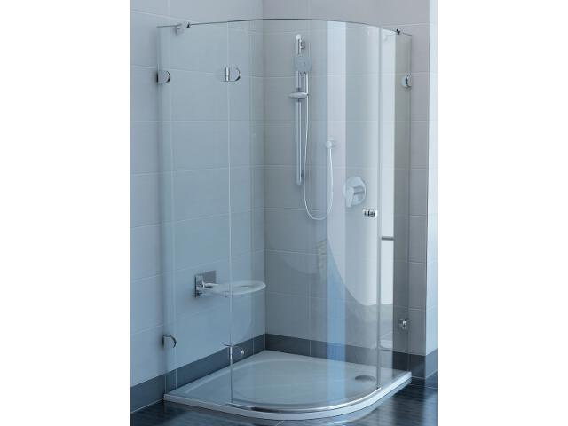 Kabina prysznicowa półokrągła GLASSLINE GSKK3-100 L, szkło transparentne 37LAAA00Y1 Ravak