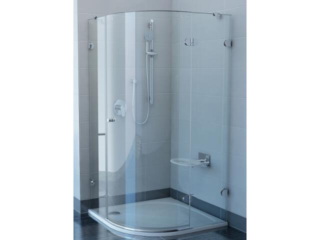 Kabina prysznicowa półokrągła GLASSLINE GSKK3-100 P, szkło transparentne 37PAAA00Y1 Ravak