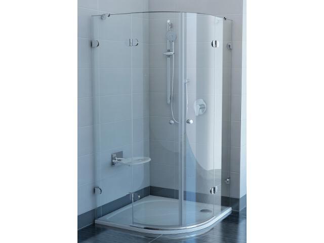 Kabina prysznicowa półokrągła GLASSLINE GSKK4-80, szkło transparentne 3A244A00Y1 Ravak