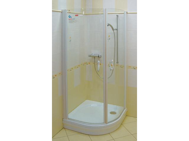 Kabina prysznicowa półokrągła ELEGANCE ESKK2-80 szkło transparentne 3E040100Z1 Ravak