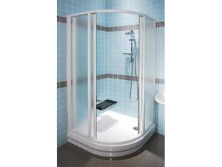 Kabina prysznicowa półokrągła SUPERNOVA SKCP4-80 profil biały, szkło grape 31140100ZG Ravak