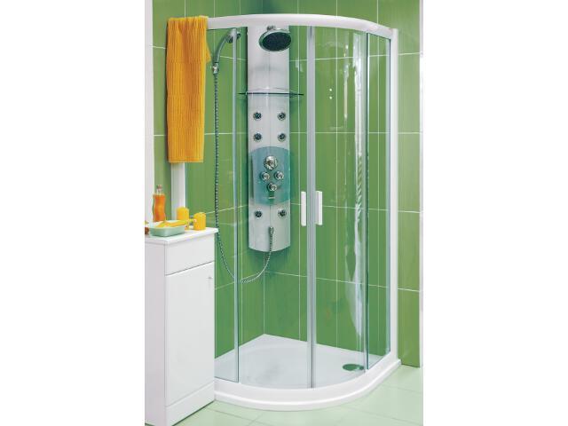 Kabina prysznicowa półokrągła RAPIER NRKCP4-90 szkło transparentne 3L370100Y1 Ravak