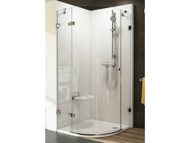 Kabina prysznicowa półokrągła BRILLIANT BSKK3-80 L, szkło transparentne 3UL44A00Y1 Ravak