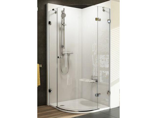 Kabina prysznicowa półokrągła BRILLIANT BSKK3-80 P, szkło transparentne 3UP44A00Y1 Ravak