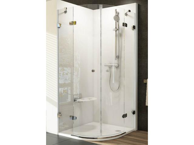 Kabina prysznicowa półokrągła BRILLIANT BSKK4-80, szkło transparentne 3U244A00Y1 Ravak