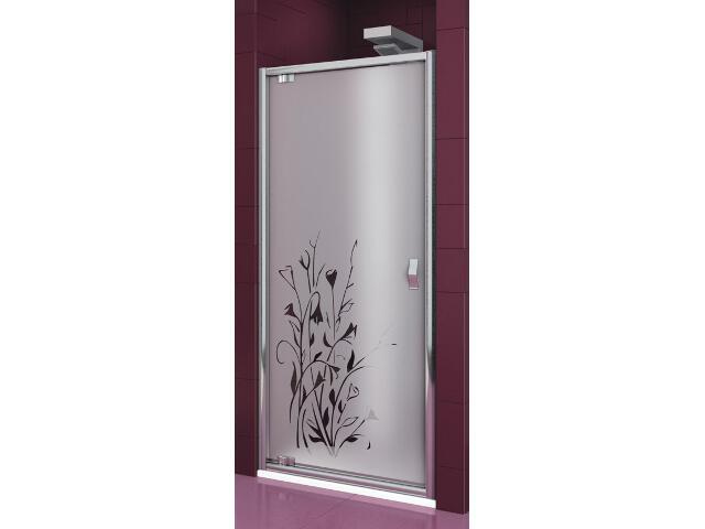 Drzwi prysznicowe SALGADO 90 uchylne szkło wzór kalia lewe 103-06093 Aquaform