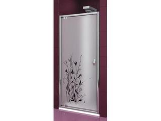 Drzwi prysznicowe SALGADO 100 uchylne profil chrom, szkło wzór kalia lewe 103-06094 Aquaform