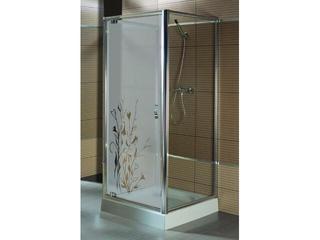 Drzwi prysznicowe SALGADO 90 do kabiny trójściennej szkło wzór lewe 103-06096 Aquaform